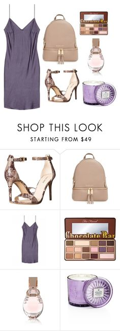 """""""Untitled #39"""" by jelenavucetic13 ❤ liked on Polyvore featuring Nine West, MICHAEL Michael Kors, Too Faced Cosmetics, GUESS and Voluspa"""
