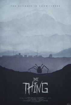 The Thing (1982) - minimal movie poster - Edward Julian Moran II