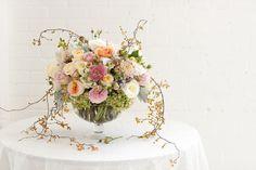 spring wedding flower arrangements   Spring Wedding Flower Trends by Tessa Woolf