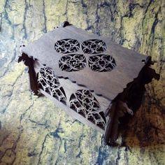 Wooden openwork gothic box Box inspired gothic architecture #gothicarchitecture