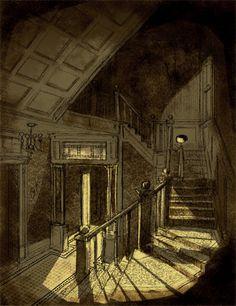 Moodboard: Int. george's house, illustration by John Klassen.