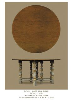 Mediterranean Table   Painted Legs with Contrasting top always a smart choice.
