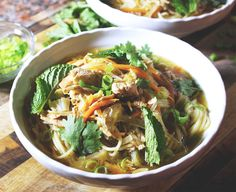 #manikinhead #food Spicy Lime & Ginger Chicken Noodle Soup [Recipe in Comments]
