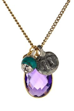 Purple Quartz & Tibetan Charm Necklace by Charming Summer Jewelry on @HauteLook
