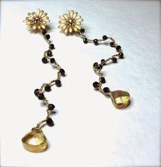 annaNì: annaNì bijoux orecchini spinello nero e oro