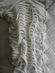 Fabric Manipulation sample - gathered ripples - surface texture inspiration for…
