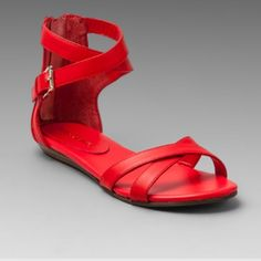 ✨new ✨ Rebecca Minkoff Red Sandals Never worn Rebecca Minkoff red Bettina sandals size 8.5. They are a little too small for my foot but I loved them so much I bought them and never wore them. Rebecca Minkoff Shoes Sandals