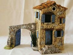 Clay Houses, Ceramic Houses, Miniature Houses, Wargaming Table, Pottery Houses, Driftwood Projects, Biscuit, Fairy Garden Houses, Small Buildings