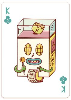 Brosmind deck of cards for Bicycle #illustration #fullhouse #pokerface #king