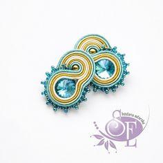 Szkatułka Emi: earrings soutache #blue