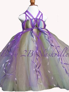 Flower Girl Dress Girls 78  910 Purple Fairy by Baby2BNashville, $125.00