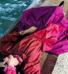 Violetta Sanchez for YSL _ Photo by David Seidner, 1980s.