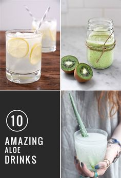 10 Amazing Aloe Drinks | HelloGlow.co: darn, one is blending the leaves of the plant in...I actually have a Aloe plant, why didn't I think of that as how pure could you get the aloe?