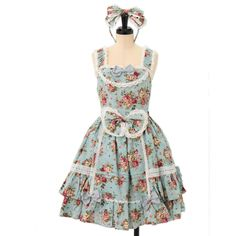 http://www.wunderwelt.jp/products/detail7028.html ☆ ·.. · ° ☆ ·.. · ° ☆ ·.. · ° ☆ ·.. · ° ☆ ·.. · ° ☆ Light blue floral jumper skirt BABY THE STARS SHINE BRIGHT ☆ ·.. · ° ☆ How to order ↓ ☆ ·.. · ° ☆ http://www.wunderwelt.jp/user_data/shoppingguide-eng ☆ ·.. · ☆ Japanese Vintage Lolita clothing shop Wunderwelt ☆ ·.. · ☆ #sweetlolita