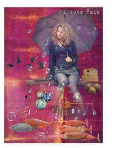 """*I love rain*  ""Top Art Set"""" by karineg ❤ liked on Polyvore featuring art"