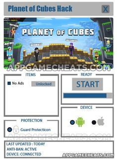 Planet of Cubes Online Hack, Tips, & Cheats for No Ads Unlock  #Adventure #PlanetofCubes #Strategy http://appgamecheats.com/planet-cubes-online-hack-tips-cheats-no-ads-unlock/