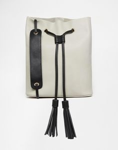 Street Level Bucket Bag with Tassels