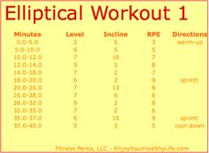Elliptical workout from @Annette Perkins-FitnessPerks #fitfluential Killer Workouts, Toning Workouts, Easy Workouts, At Home Workouts, Elliptical Workouts, Walking Workouts, Stairmaster, Workout Routines, Cardio