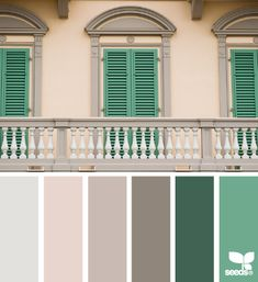 italian hues #designseeds #colorpalette #brown #tan #green