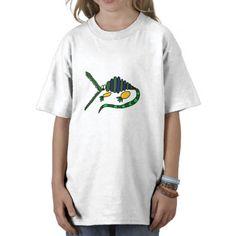 Funky Crocodile Art Shirt #crocodiles #alligators #shirts #funny #art #animals #zazzle #petspower