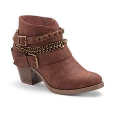 SO® Women's Western Heeled Ankle Boots