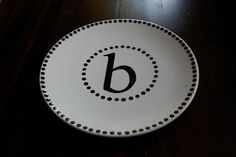 Monogram plates.. $4.50, via Etsy.