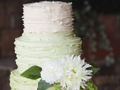 These Gorgeous Green Ombre Wedding Cakes Are Perfect For St. Patrick's Day | Photo by: Bliss Eleven Studio | TheKnot.com