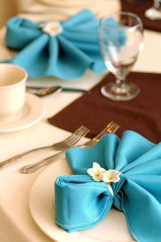 Napkin Bow Tie Fold wedding diy fold linen napkin purple