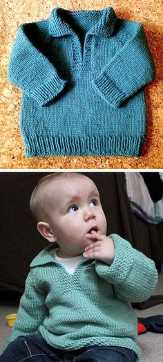 Boys Knitting Patterns Free, Baby Cardigan Knitting Pattern Free, Baby Sweater Patterns, Knitting For Kids, Free Knitting, Knitting Projects, Crochet Baby, Knit Crochet, Crochet For Boys