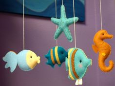 AQUARIUM Custom Decorative Mobile Hand-Crafted for the Home, Playroom or Nursery - Made to Order