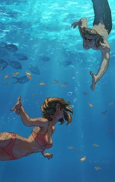 Don't know if I have this one. Like the idea of a merman and female in water. Different.