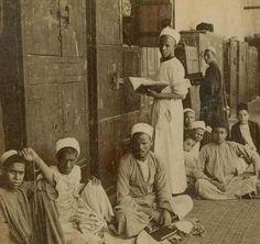 طلاب الازهر Al-Azhar students 1898 مصر،القاهرة...Cairo Egypt