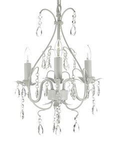 Look what I found on #zulily! White 18'' Wrought Iron & Crystal Chandelier by Gallery Lighting #zulilyfinds