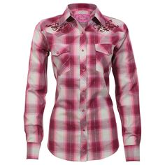 Cowgirl Hardware Women's Plaid Long Sleeve Western Shirt
