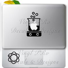 Chemistry Reaction Scientist Atom Molecules Solvent Chemist Lab Decal for Macbook
