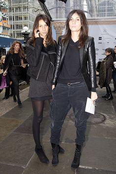 Géraldine Saglio and Emmanuelle Alt