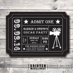 Printable - Academy Awards - Oscars - Hollywood Party - Event ...