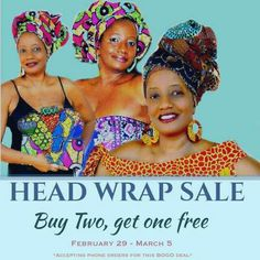Our Headwrap sale. Sale Just Got Better! Enjoy buy two, get one free  Our Entire Head Wrap Section! . Shop Our New Headwraps NOW! . . zabbadesigns.com admin @zabbadesigns.com https://zabbadesigns.com/collections/head-wraps #naturalista  #headwraps#headwrap #africanheadwrap #africanprint #supportblackbusinesses