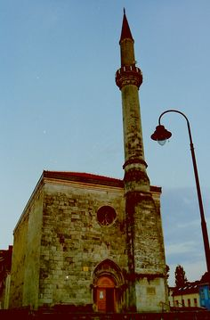 The very old Mosque in the center of Bihac.