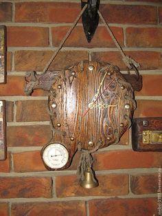 Часы для дома ручной работы. Ярмарка Мастеров - ручная работа. Купить Часы СКАНДИНАВИЯ. Handmade. Коричневый, часы настенные