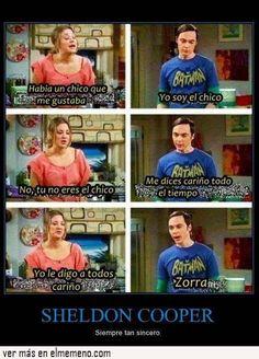 Sheldon Copper es muy sincero
