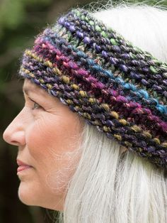 Free Knitting Pattern for Quinoa Headband - Super bulky multi-color yarn make this an easy, yet stunning, ear warmer by Allison Green for Berroco.