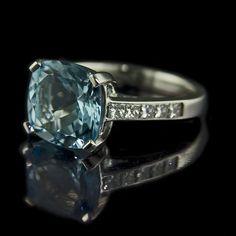 Aquamarine ring. #jewelry
