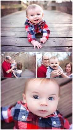 6 Month Pictures in the Winter. {6 month portraits} {6 month old poses} {wichita baby photography} {wichita family photographer} {family photographer} Erin Kata Photography