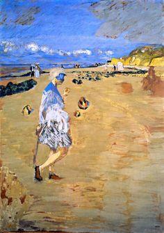 Annette on the Beach at Villerville - Edouard Vuillard 1910 French 1868-1940