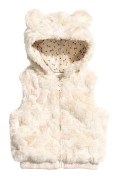 Fashion and quality clothing at the best price H&m Fashion, Fashion Kids, Faux Fur Gilet, Baby Coat, My Baby Girl, Kind Mode, Baby Dress, Baby Kids, Kids Outfits