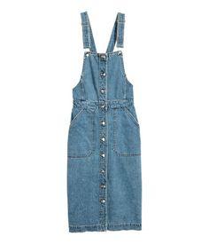 Denim Bib Overall Dress   Denim blue   Women   H&M US