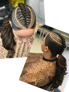Neat Fishbone Braids - 20 Gorgeous Ghana Braids for an Intricate Hairdo in 2019 - The Trending Hairstyle Hair Ponytail Styles, Black Ponytail Hairstyles, Sleek Ponytail, Braid Styles, Weave Hairstyles, Perfect Ponytail, Cute Hairstyles, Braided Ponytail, Curly Hair Styles