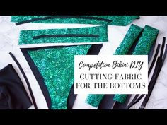 Competition Bikini DIY: Cutting Fabric For the Bottoms Competition Bi. - New Ideas Bikini Competition Training, Fitness Competition, Figure Competition, Competition Bikinis, Noc Bikini, Yellow Bikini Bottoms, Bikini Tattoo, Scalloped Bikini, Posing Suits