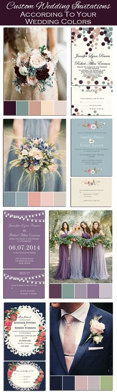 Custom DIY Wedding Invitations According to Your Wedding Colors